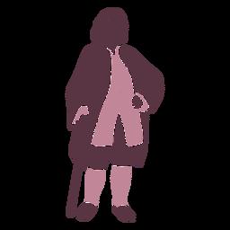 Duotono caballero elegante del siglo XVIII