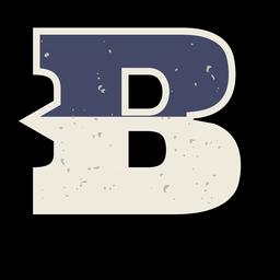 Letra maiúscula ocidental sombreada b