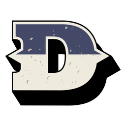 Western capital letter shaded d