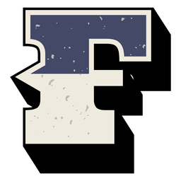 Western capital letter shaded f