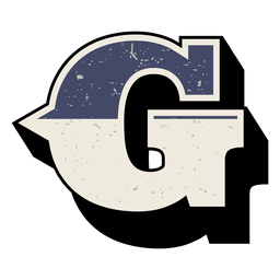 Western capital letter shaded g