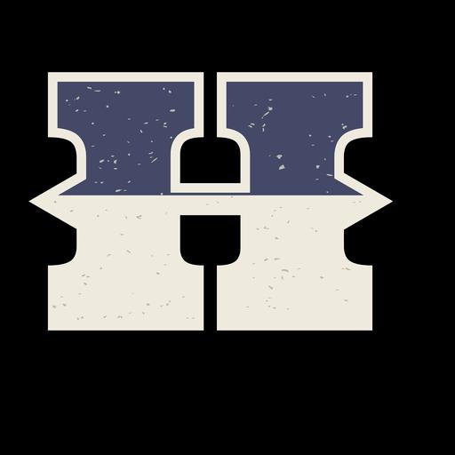 Letra mayúscula occidental sombreada h Transparent PNG