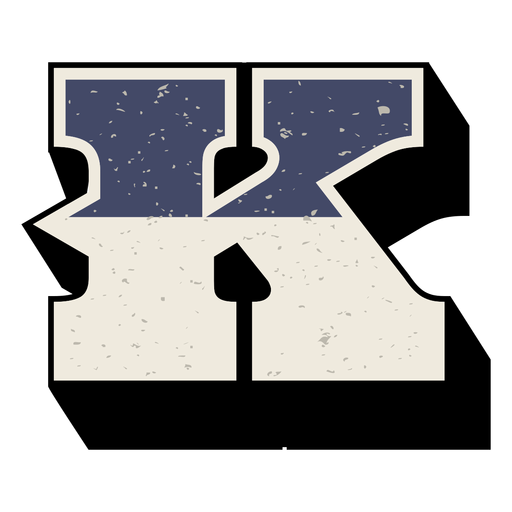 Western capital letter shaded k