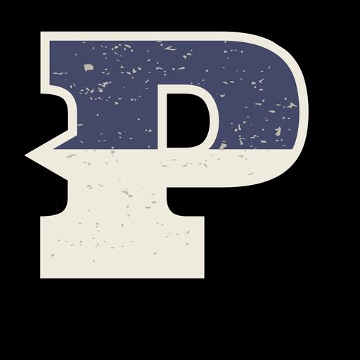 Letra mayúscula occidental sombreada p Transparent PNG