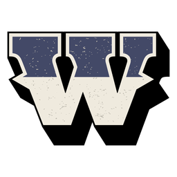 Western capital letter shaded w