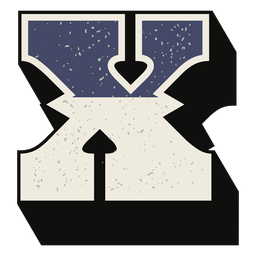 Letra mayúscula occidental sombreada x