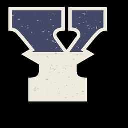 Letra maiúscula ocidental sombreada y