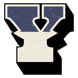 Western capital letter shaded y
