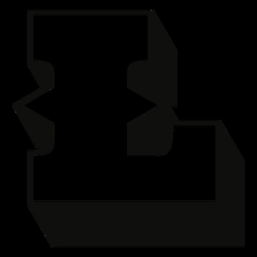 Letra mayúscula occidental trazo de sombra l Transparent PNG