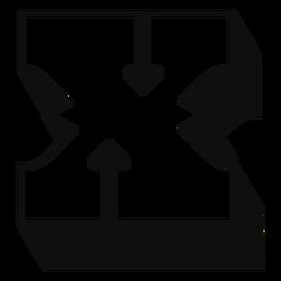 Letra mayúscula occidental trazo de sombra x
