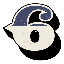 Número occidental sombreado 6