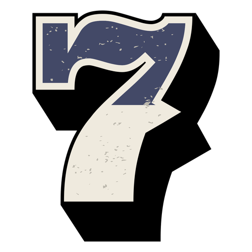 Western number shaded 7 Transparent PNG