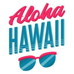 Aloha Sonnenbrille hawaiianischen Schriftzug