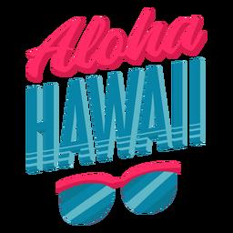 Aloha sunglasses hawaiian lettering