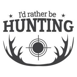 Antler rather be hunting badge