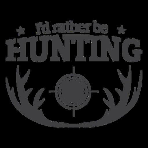 Antler prefiere ser insignia de caza Transparent PNG