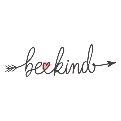 Be kind arrow lettering Transparent PNG