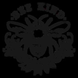 Ser amable abeja flor letras