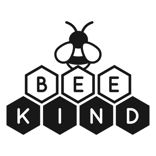 Be kind bee pun lettering Transparent PNG