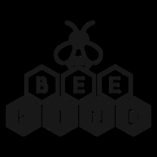 Sea amable abeja juego de palabras Transparent PNG