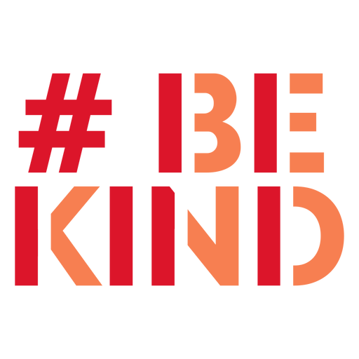Be kind hashtag lettering