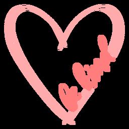 Sea amable letras de corazón