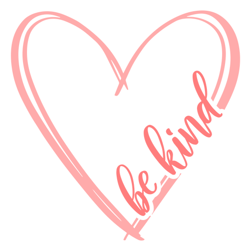 Be kind heart lettering