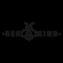 Sea amable juego de letras abeja