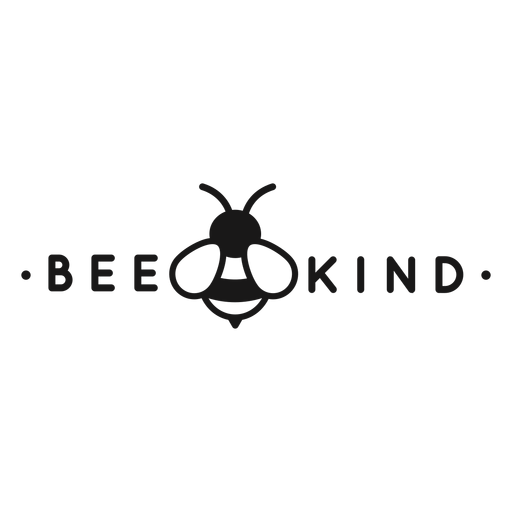 Be kind pun bee lettering Transparent PNG