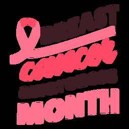 Cinta del mes de concientización sobre el cáncer de mama