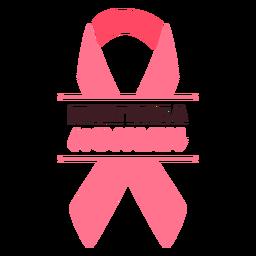Luta de câncer de mama como fita de mulher