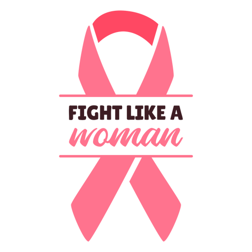 Breast cancer fight like woman ribbon
