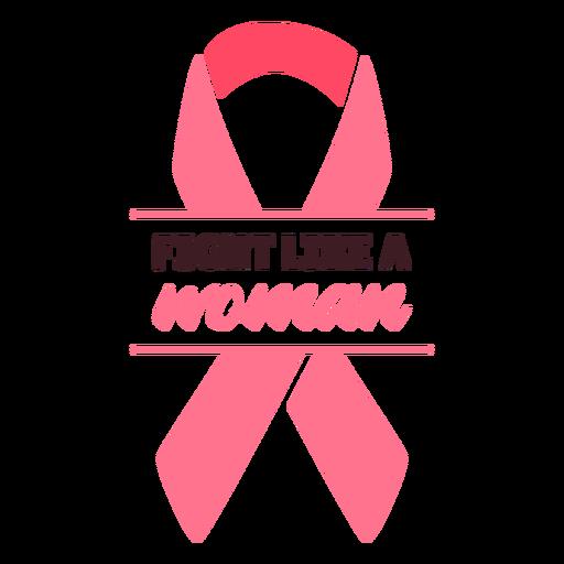 Lucha contra el cáncer de mama como cinta de mujer