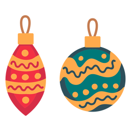 Christmas balls ornaments icon