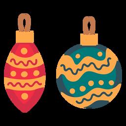 Ícone de enfeites de bolas de Natal