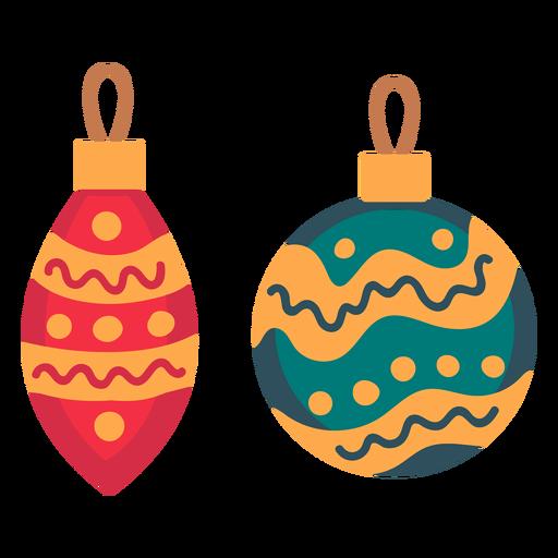 Ícone de enfeites de bolas de Natal Transparent PNG