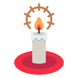 Christmas candle icon christmas
