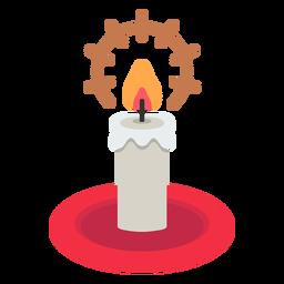 Icono de vela de navidad navidad