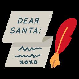 Caro ícone de carta santa natal