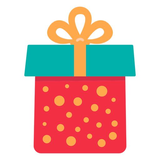 Christmas gift box icon Transparent PNG