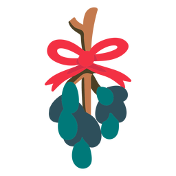 Christmas mistletoe flat icon
