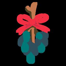 Icono plano de muérdago de Navidad