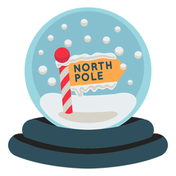 Christmas north pole snowglobe icon