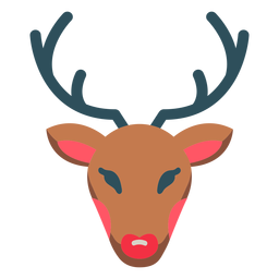 Christmas reindeer rudolph icon