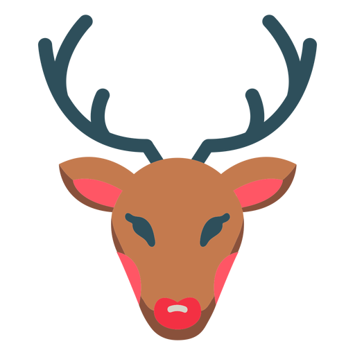 Christmas reindeer rudolph icon Transparent PNG