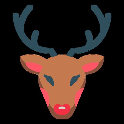 Christmas reindeer rudolph icon