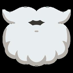 Icono de Navidad santa barba