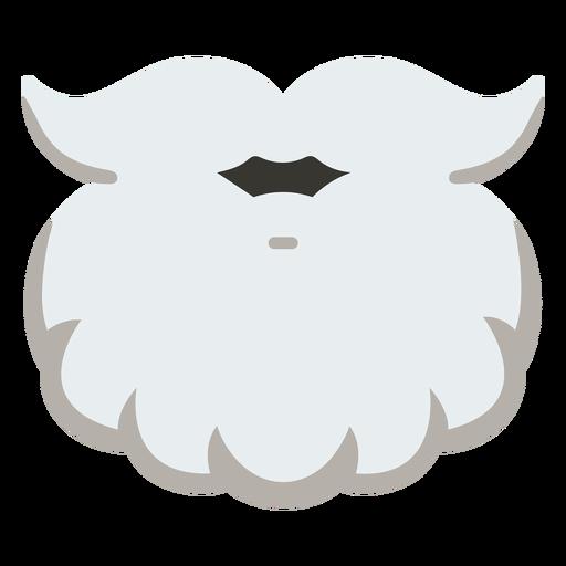 Ícone de barba do papai noel natal Transparent PNG