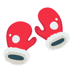 Christmas santa gloves icon