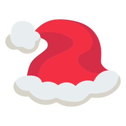 Christmas santa hat icon